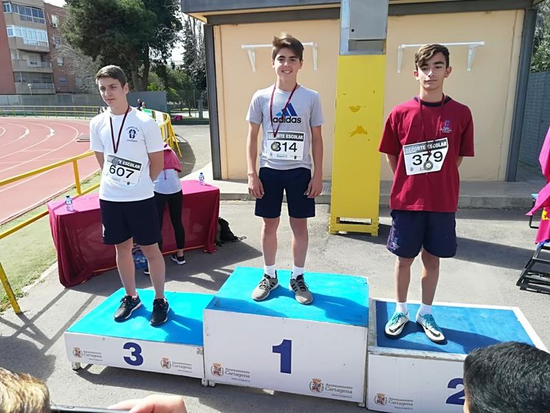 Fase municipal de atletismo escolar en Cartagena