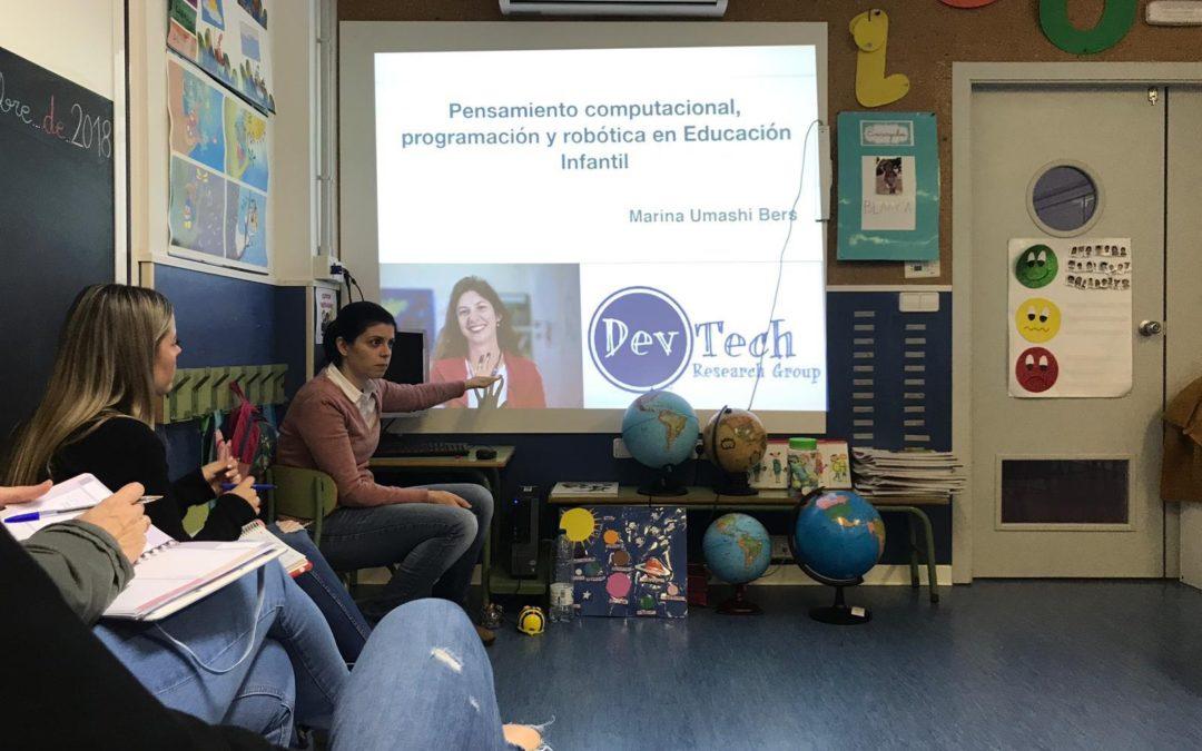Formación robótica y pensamiento computacional. Educación Infantil
